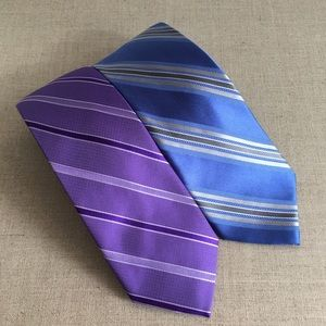 Lot of 2 Micheal Kors Men Muticolour Silk Ties